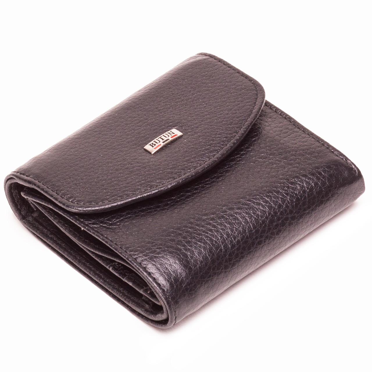 Женский кошелек кожаный черный BUTUN 584-004-001