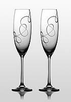 Набор бокалов для шампанского Bohemia Grandioso Compliment 2 шт. Свадебные бокалы
