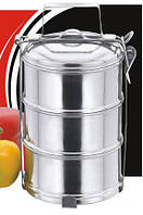 Термос ланч бокс EMPIRE (круглый,3 емкости по 500 мл.,нержавейка)