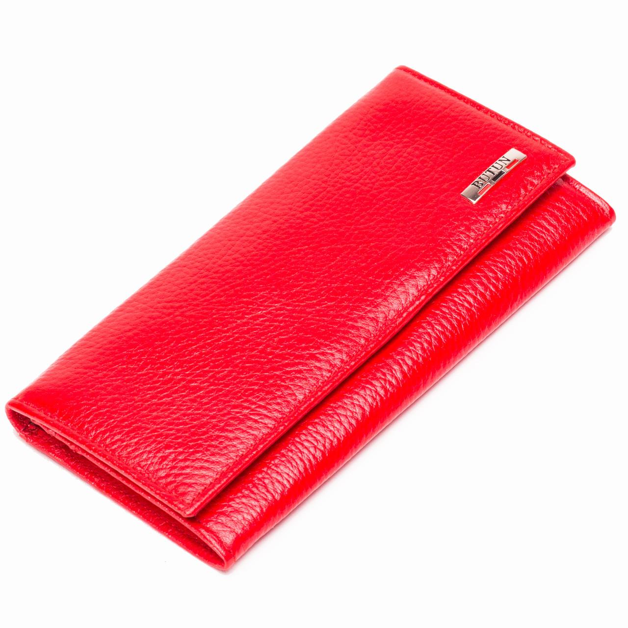 Женский кошелек кожаный красный BUTUN 567-004-006