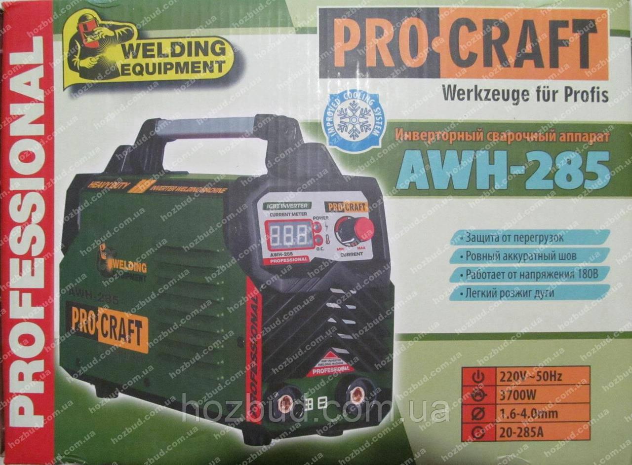 Зварювальний апарат PROCRAFT AWH-285
