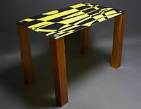 Стеклянный стол Абстракция
