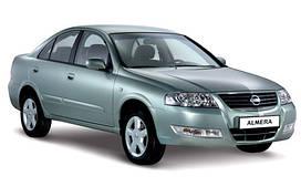 Накладки на пороги Nissan Almera Classic (2006+)