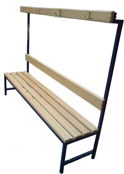 Лавка для роздягальні з вішалкою 3 м (висота 165 см)