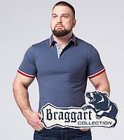 Тенниска мужская хлопок большого размера Braggart - 17093-1 серо-синий, фото 1