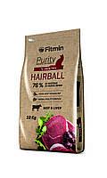 Fitmin cat Purity Hairball Фитмин Корм для взрослых длинношерстных кошек, 400 г