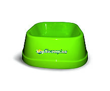 Миска для собак средних пород из полированного пластика для корма и воды 0,75 л