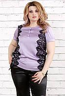 05b061348f84 Шифоновая женская блузка для полных женщин (48-70)