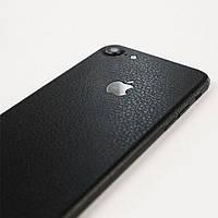 Черная Кожа на iPhone 7 Виниловые Декоративные Наклейки Скин Защитная Пленка под Кожу 3D Винил Стикер