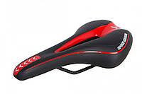 Седло MTB 270*140 YF-1018 (черно-красный)