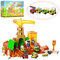 Паркинг с машинками и аксессуарами, световой и звуковой эффект (машинки, автомодели, игрушки для мальчиков)