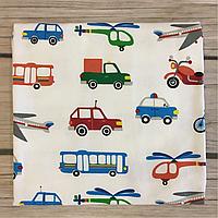 """Фланелевая (байковая) пеленка для мальчика """"Автопарк"""" , фото 1"""