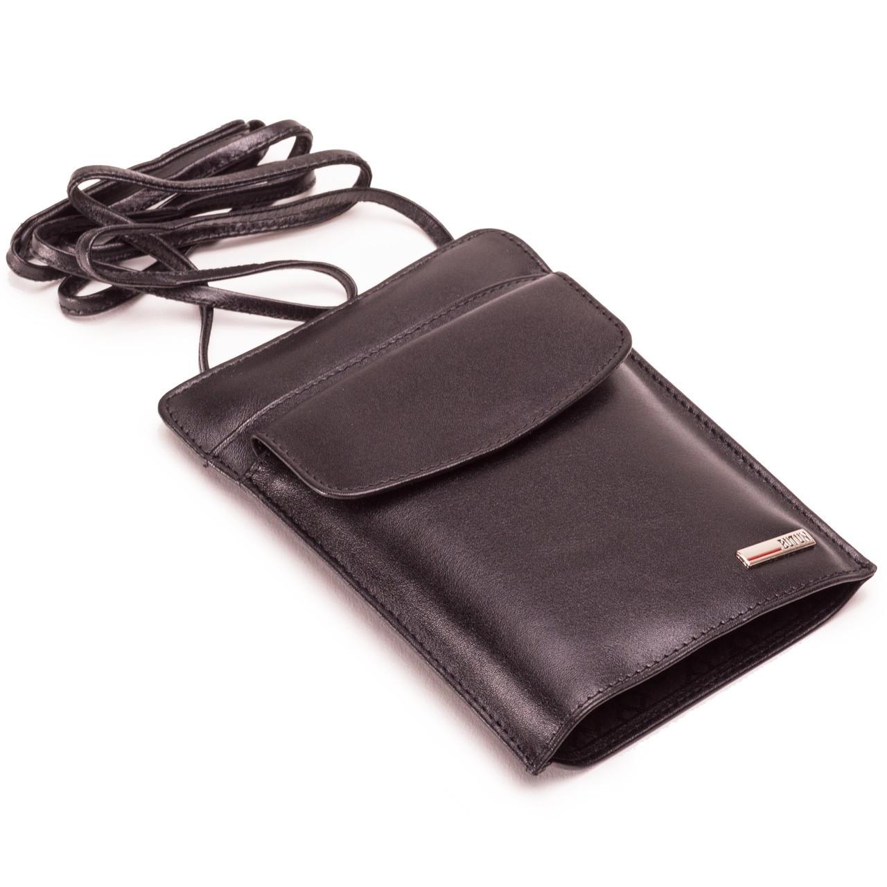 Мужской кожаный кошелек сумка на шею BUTUN 190-024-001