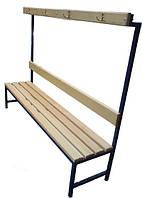 Скамья для раздевалки с вешалкой 1 м (высота 165 см)