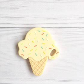 Мороженое (бежевое) силиконовый прорезыватель для зубов