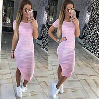 Модное летнее длинное платье