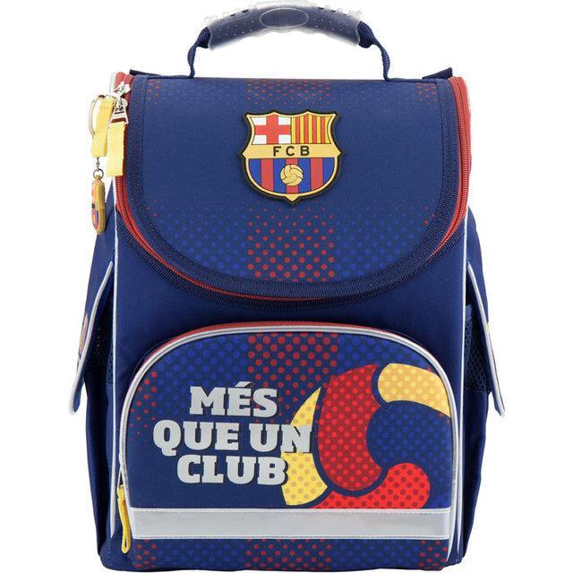 Рюкзак школьный с ортопедической спинкой  каркасный Kite FC Barcelona BC18-501S для первоклассника