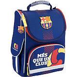 Рюкзак школьный с ортопедической спинкой  каркасный Kite FC Barcelona BC18-501S для первоклассника, фото 2