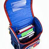 Рюкзак школьный с ортопедической спинкой  каркасный Kite FC Barcelona BC18-501S для первоклассника, фото 5