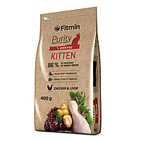 Fitmin cat Purity Kitten Фитмин Корм для котят до 12 месяцев, беременных и кормящих кошек, 10 кг