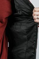 Жилетка мужская миллитари принт 920K001 (Черно-бордовый)
