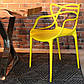 Стул Masters pp-601 Flower yellow желтый, дизайнер Филипп Старк, фото 4