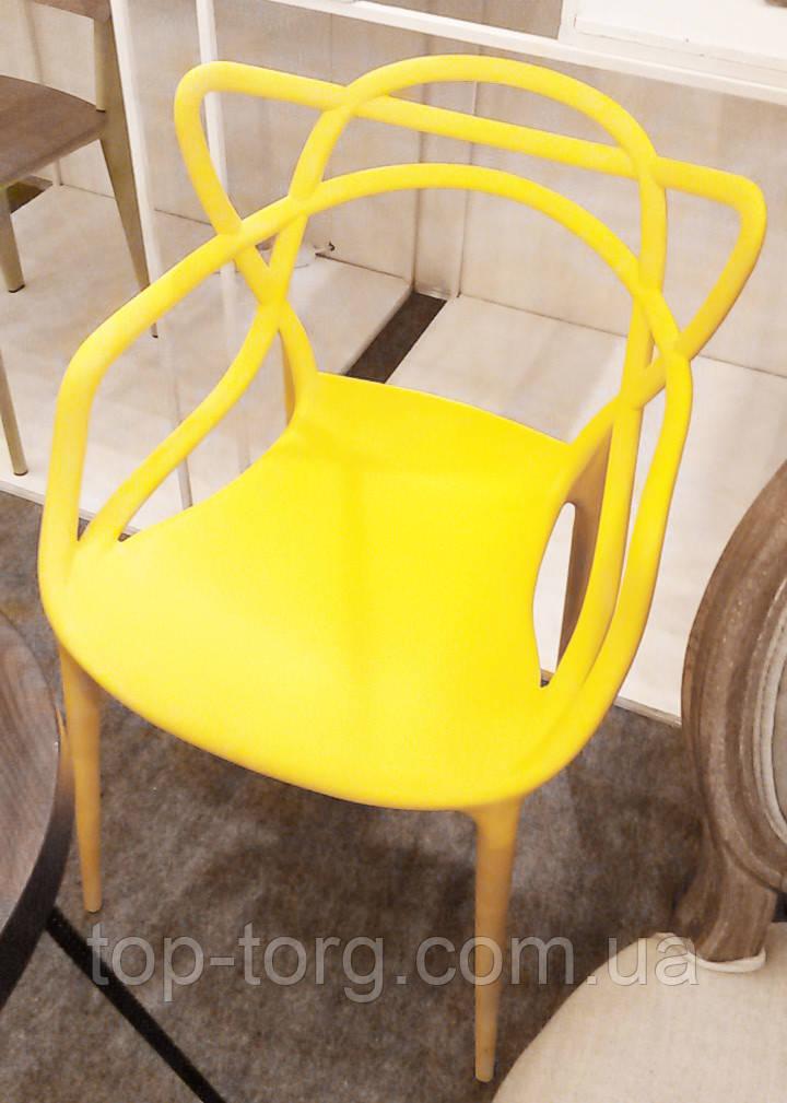 Стул Masters pp-601 Flower yellow желтый, дизайнер Филипп Старк