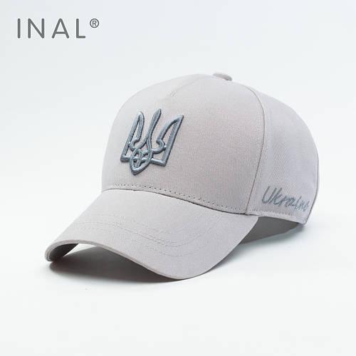 Кепка бейсболка, Ukraine, L / 57-58 RU, Хлопок, Серый, Inal