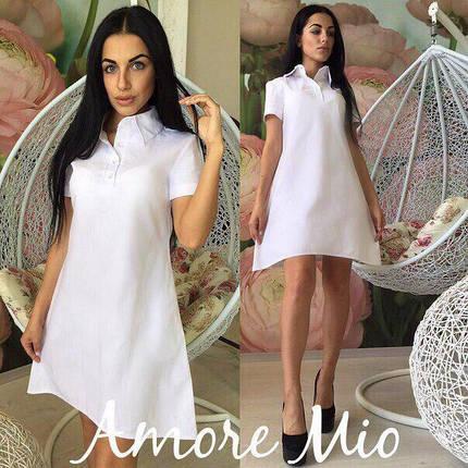 Модное легкое летнее платье клеш ( лен ), фото 2