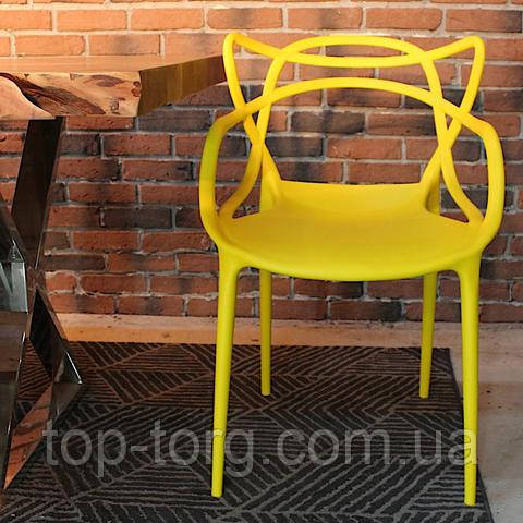 Стул-masters-chair-philippe-starck Мастерс pp-601 flower желтый