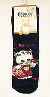 Детские носки с кошечкой теплые с силиконовым анти-скольжением, фото 1