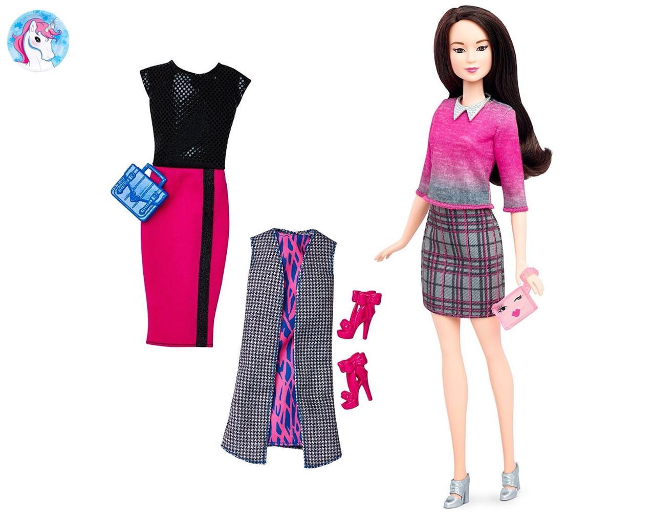 4c9ed72d4 Игровой набор Барби модница с одеждой и аксессуарами азиатка Barbie  Fashionistas - Детские игрушки интернет-