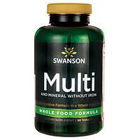 Премиального качества натуральные витамины Whole Food без железа Albion 90 шт
