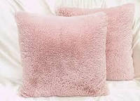 Наволочка с длинным ворсом розовая пудра (50х50)
