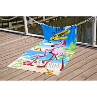 Полотенце Lotus пляжное - Flamingo 75*150 велюр