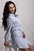 Трендовая удлиненная рубашка платье