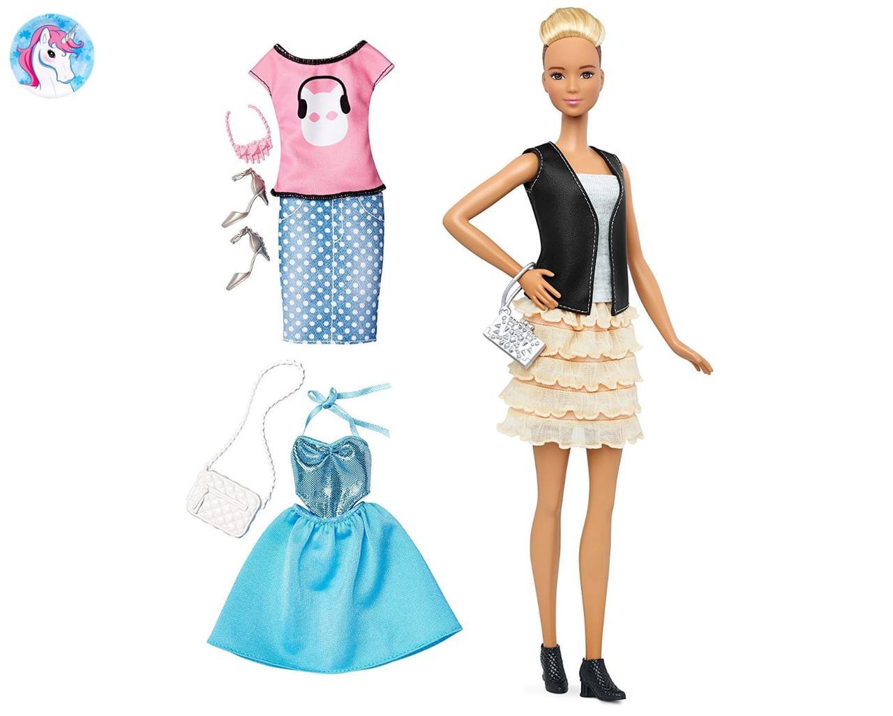 68fc47d76 Игровой набор Барби модница с одеждой и аксессуарами высокая блондинка  Barbie Fashionistas, Tall Blonde -