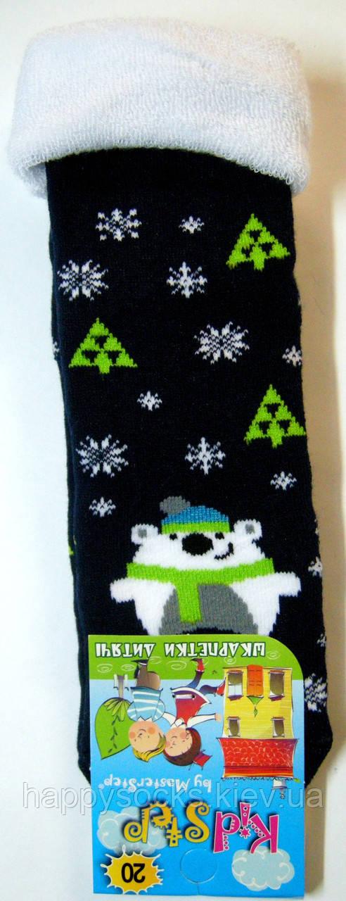 Носки теплые к Новому году черно-синие