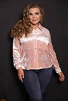 Женская стильная блуза больших размеров (рр 48-94), разные цвета
