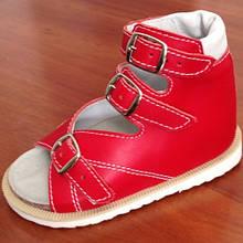 """Ортопедичне взуття,  Босоніжки для дівчинки ortex """"Весна"""" червоні."""