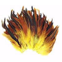 Перья петуха декоративные (Перо) Желтые 10-20 см 20 шт/уп, фото 1