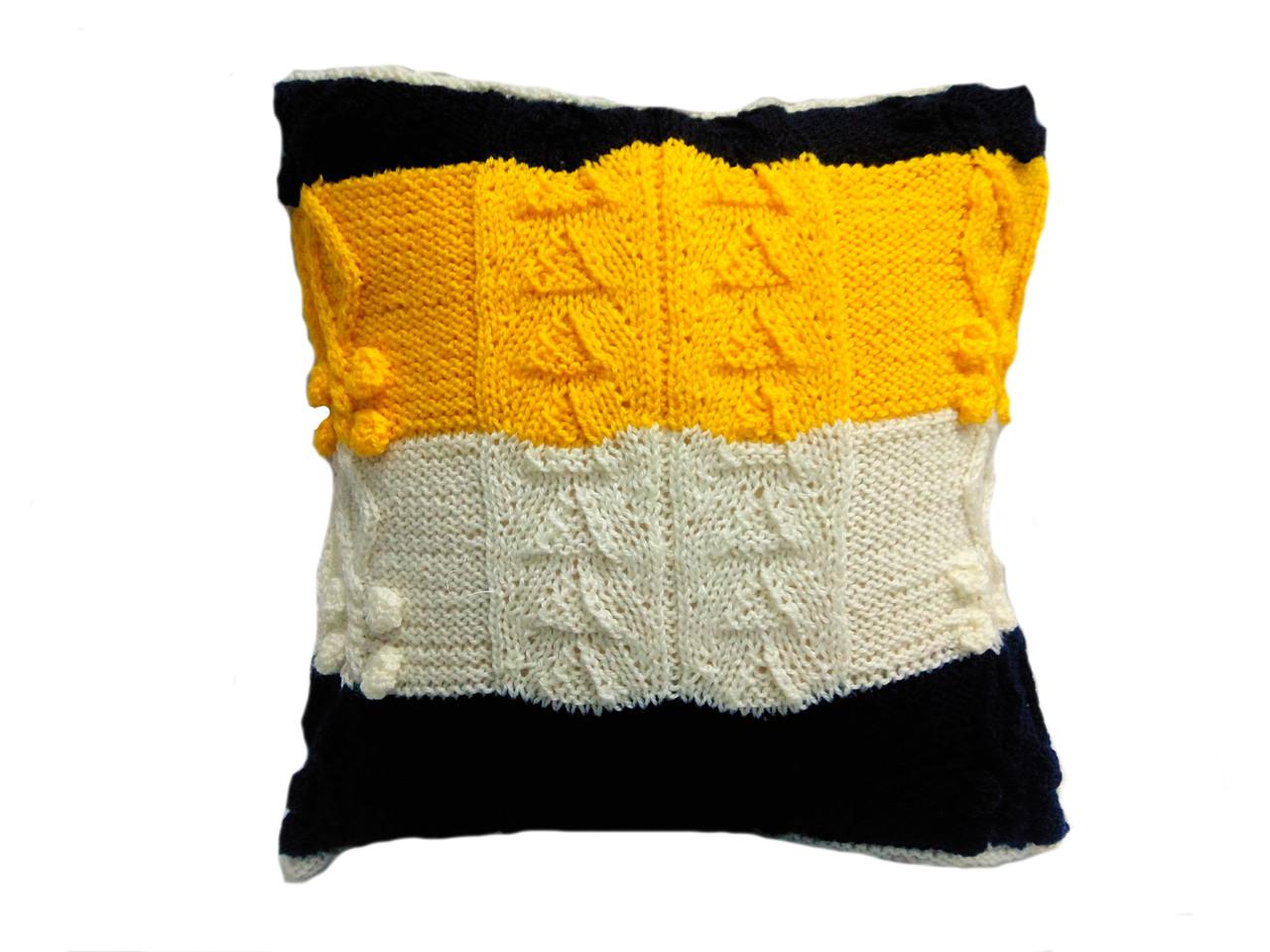 Вязаная подушка, диванная \