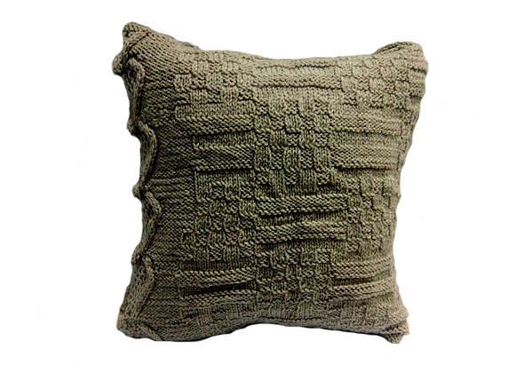 "Вязаная подушка, диванная ""Рокса"", фото 2"