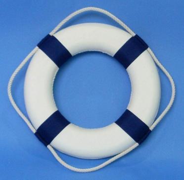 Рятувальне коло діаметр 65х40мм синій 70004 для човни, катери, яхти
