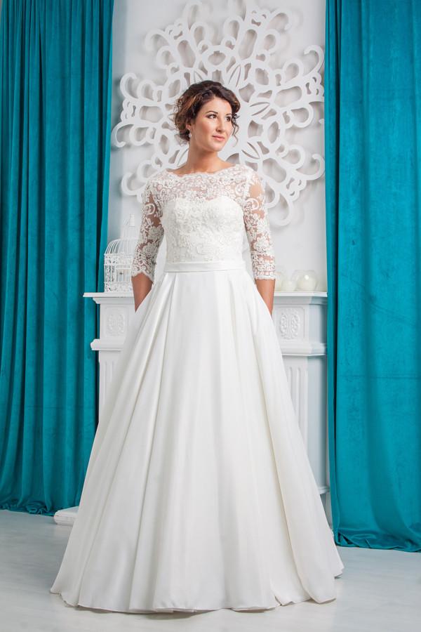 Свадебное платье Amour Bridal Гелена 46р., молочный