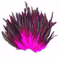 Перья петуха декоративные (Перо) Фуксия 10-20 см 20 шт/уп