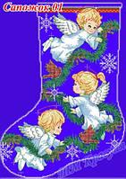 Новогодние сапожки и варежки под вышивку