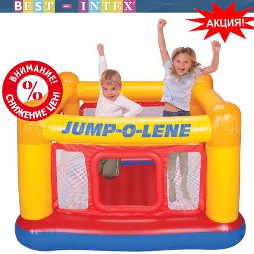 Intex 48260 (174х174х112 см.) Надувной игровой центр-батут Замок Playhouse Jump-O-Lene