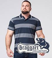 Футболка поло мужская в большом размере Braggart - 6683-1 синий, фото 1