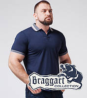 Футболка поло большого размера Braggart - 6635-1 синий, фото 1
